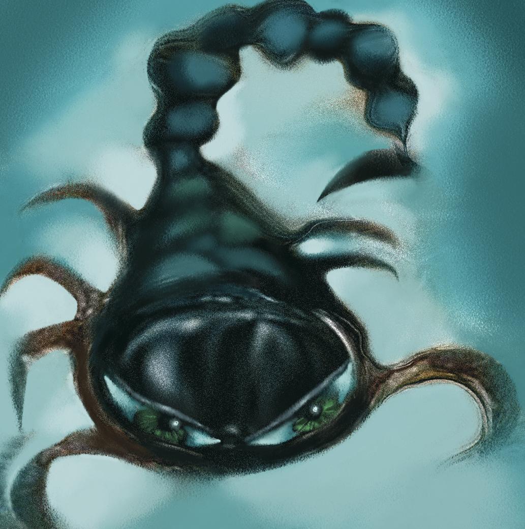 картинка грустный скорпион